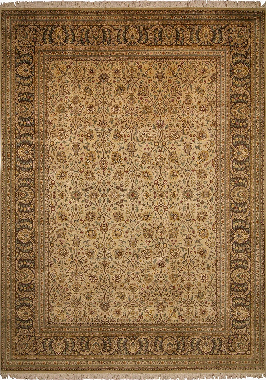 Noori Outlet sale feature Rug Recommended Hand Knotted Area Brown 14'2
