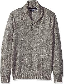 IZOD Men's Tall Big & Tall Newport 7g Marled Shawl Sweater