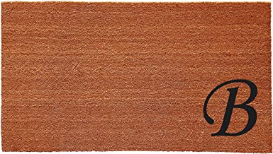 Home & More 153622436B Urban Chic Monogram Doormat  (Letter B), Black/Natural, 24