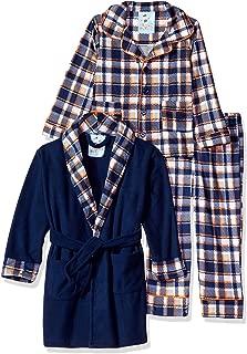 Buns Kidz Little Boy's and Big Boy's 3 Piece Robe & Pajama Sleep Set