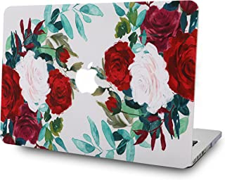LuvCase Rubberized Plastic Hard Shell Case Cover Compatible MacBook Air 13 Inch 2019/2018 New Version A1932 with Retina Display (Touch ID) (Flower 25)
