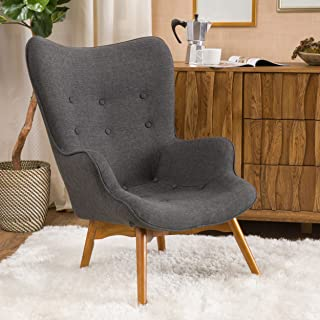 Christopher Knight Home Hariata Arm Chair, Muted Dark Gray