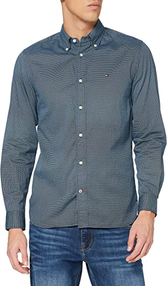 Tommy Hilfiger Geo Floral Print Shirt Camisa para Hombre