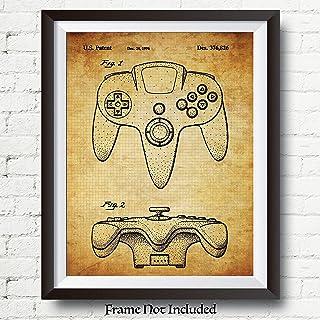 b479154d1b35 GAMER GIFTS - Original Nintendo 64 Controller Patent Art Poster - 11x14  Unframed - Wall Art