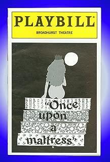 Once Upon a Mattress, Broadway Playbill + Sarah Jessica Parker, Jane Krakowski, David Aaron Baker, Mary Lou Rosato