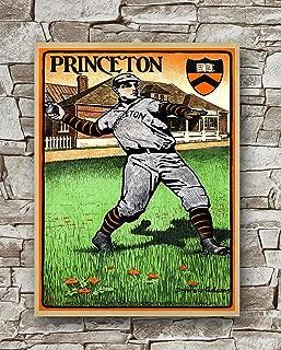 Huawuque 1903 Princeton University Baseball Poster Standard Size | 18-Inches by 24-Inches | 1903 Princeton University Baseball Posters Wall Poster Print