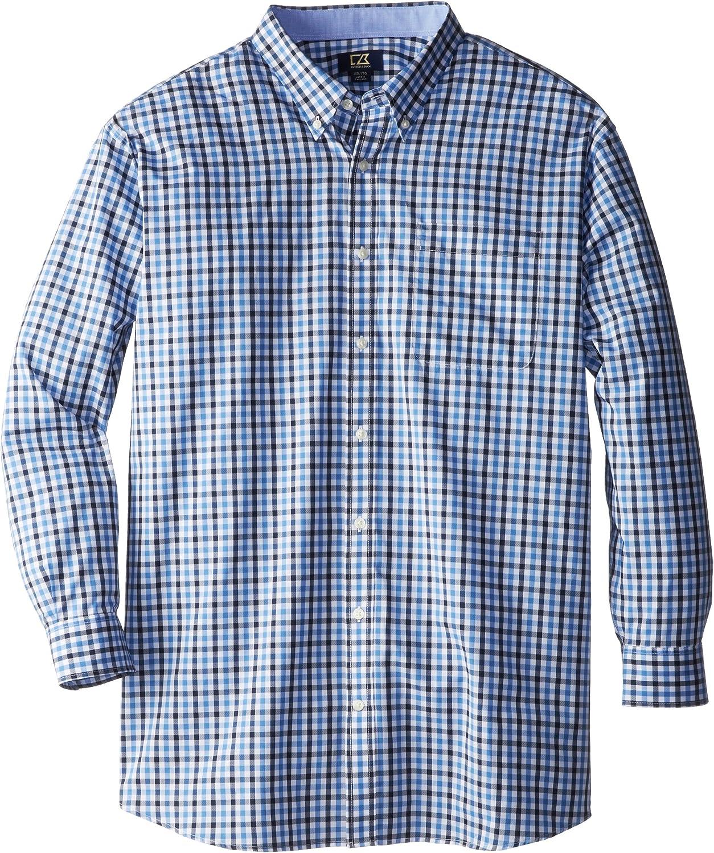 Cutter & Buck Men's Big-Tall Long Sleeve Cascade Range Gingham Shirt