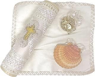 Salve Regina Hand Made Catholic Christening/Baptism Kit - Model 3
