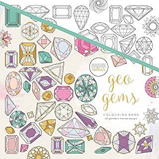 "KaiserColour Perfect Bound Coloring Book 9.75""X9.75""-Geo Gems (Pack of 1)"