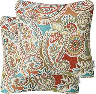 Amazon Com Throw Pillow Covers Paisley Throw Pillow Covers Decorative Pillows Insert Home Kitchen