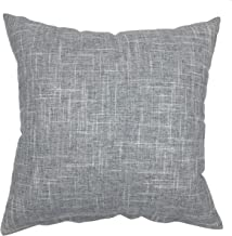 YOUR SMILE Pure Grey Square Decorative Throw Pillow Case Cushion Covers Shell Cotton Linen Blend 18 X 18 Inches