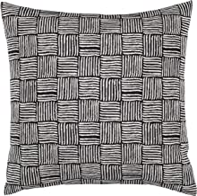 Stone & Beam Modern Reversible Cross-Hatch Stitched Throw Pillow, 17 x 17 , Black and White