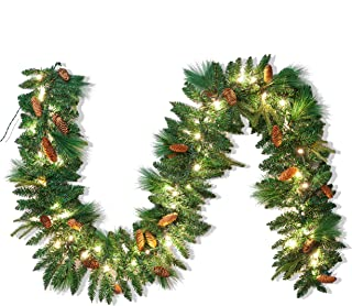 Best poinsettia garland with lights Reviews