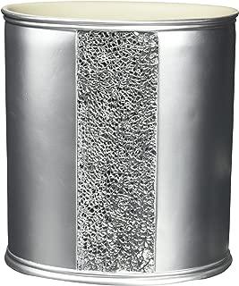 Popular Bath Waste Basket, Sinatra Collection, Silver