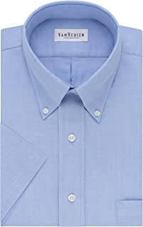 Van Heusen Men's Dress Shirts Short Sleeve Oxford Solid