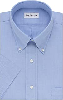 Men's Dress Shirts Short Sleeve Oxford Solid