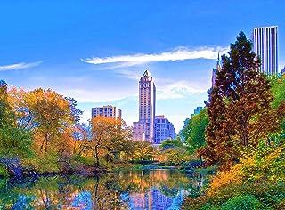 Wooden Jigsaw Puzzle Manhattan Central Park New York City USA 500-Pieces