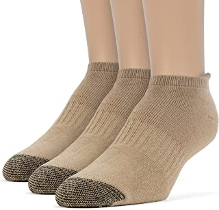 Men's Cotton Comfort No Show Cushion Running Socks - 3 Pairs