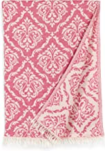 Linum Home Textiles Damask Delight Pestemal Beach Towel Pink