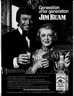 1973 Bette Davis- Robert Wagner Jim Beam -Original Magazine Ad-Movie + TV Stars