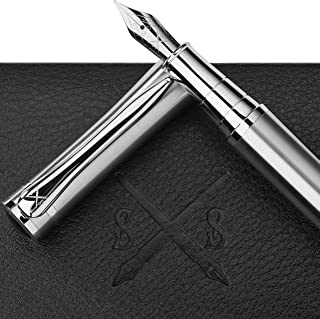 Scribe Sword Fountain Pen with Ink - Calligraphy Pens for Writing - Designer Gift Set - Medium Nib - A Business Executive Fountain Pen and Case - Instructions Included