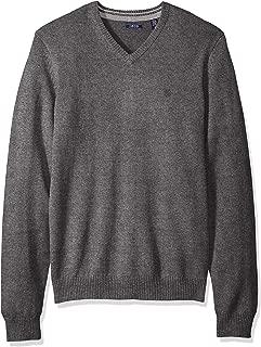 Men's Premium Essentials Solid V-Neck 12 Gauge Sweater