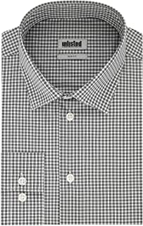 Unlisted by Kenneth Cole Men's Dress Shirt Slim Fit Checks and Stripes (Patterned)