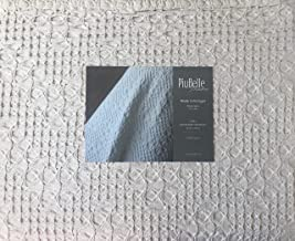 Piu Belle Portugal Solid Light Gray Textured Bubble French Farmhouse Style Matelasse Quilt Coverlet (King) - Cedric Gray