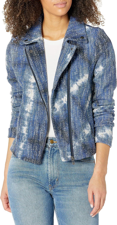 NIC+ZOE Women's Tie Dye Biker Jacket