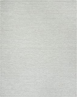 Safavieh MTK616M-8 Montauk Collection Slate and Ivory Cotton Area Rug, 8' x 10'