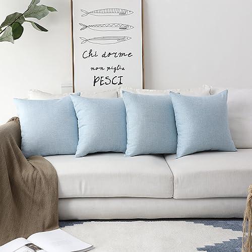 Wondrous Light Blue Throw Pillows Amazon Com Inzonedesignstudio Interior Chair Design Inzonedesignstudiocom