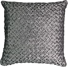 Beautyrest Chacenay Faux Silk Decorative Pillow, 20 x 20, Pewter