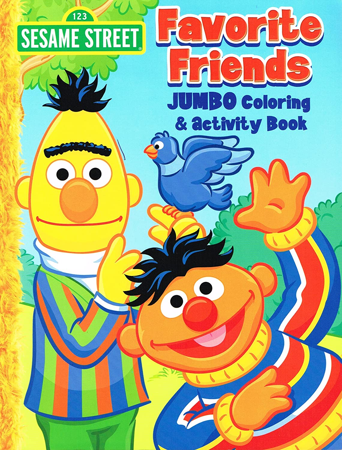 Sesame Street Elmo Jumbo coloring Book  Favorite Friends
