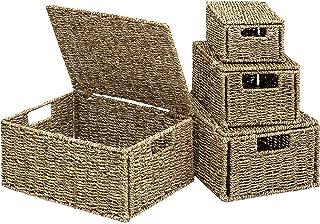 Best medium wicker basket with lid Reviews
