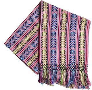 Mexican Handmade Colorful Rebozo Shawl