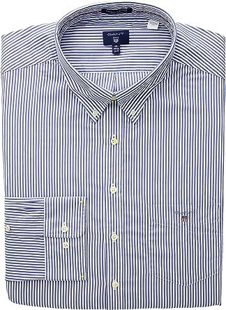 GANT The Poplin Banker Stripe LS BD Camisa para Hombre