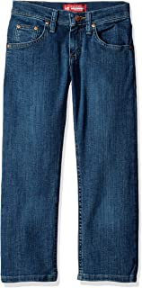 Lee Big Boys' Premium Select Regular Fit Straight Leg Jeans, Dawson Handsand, 14 Slim