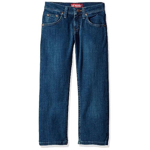 NEW OLDER BOYS JUNIOR TEENAGER CLASSIC STRAIGHT LEG BLUE DENIM JEANS 10 12 16 Y