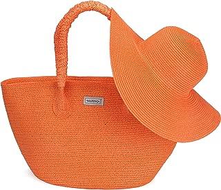 beach bag and hat set