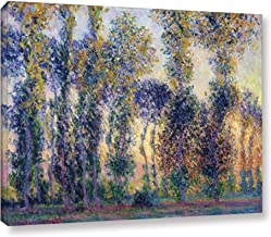 Art Wall Poplars at Giverny at Sunrise Gallery Wrapped Canvas by Claude Monet, 36 by 48-Inch