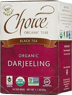 Choice Organic Teas Black Tea, 16 Tea Bags, Darjeeling