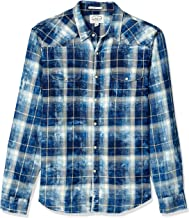 Lucky Brand Men's Sleeve Button Up Sugar Magic Wash Western Shirt
