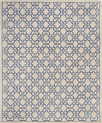 Amazon Com Safavieh Mosaic Collection Mos152a Hand Knotted Premium Wool Viscose Area Rug 8 X 10 Cream Purple Furniture Decor