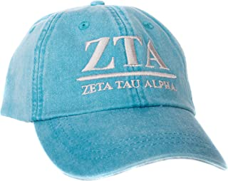 Zeta Tau Alpha (B) Sorority Embroidered Baseball Hat Cap Cursive Name Font ZTA