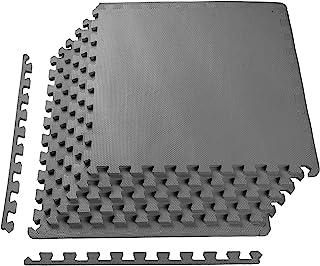 BalanceFrom Puzzle Exercise Mat with EVA Foam Interlocking Tiles, Gray