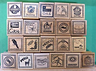 country rubber stamps for passports