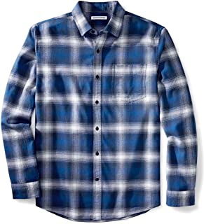 Amazon Essentials Men's Regular-Fit Long-Sleeve Flannel Shirt