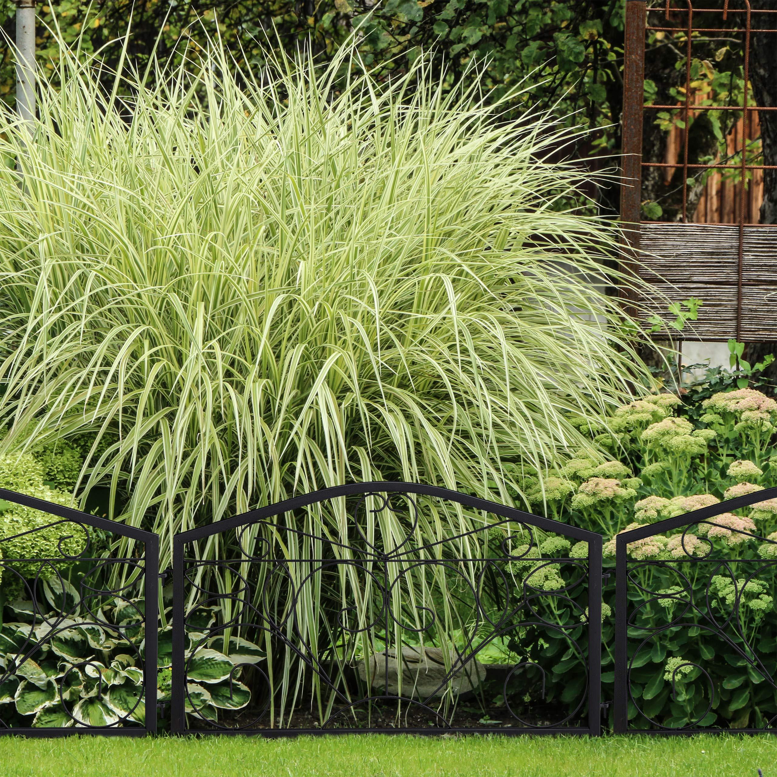 Relaxdays Beetzaun Cercado para jardín (4 Piezas, Hierro, 33 x 225 cm), Color Negro: Amazon.es: Jardín