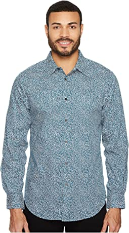 Perry Ellis - Abstract Floral Dress Shirt