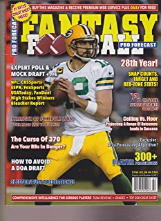 PRO FORECAST FANTASY FOOTBALL MAGAZINE 2017, ARRON ROGERS COVER.